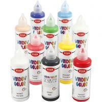 Window-Color, Sortierte Farben, 10x90 ml/ 1 Pck