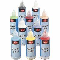Window-Color, Sortierte Farben, 10x80 ml/ 1 Pck