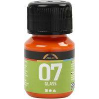 A-Color Glas-/Porzellanfarbe, Orange, 30 ml/ 1 Fl.