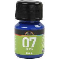 A-Color Glas-/Porzellanfarbe, Brillantblau, 30 ml/ 1 Fl.