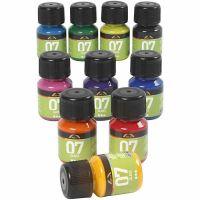 A-Color Glas-/Porzellanfarbe, Sortierte Farben, 10x30 ml/ 1 Pck