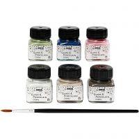 Glas- und Porzellanfarbe - Sortiment, Sortierte Farben, 6x20 ml/ 1 Pck