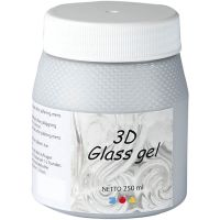 3D Glass-Gel, Silber, 250 ml/ 1 Dose