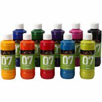 A-Color Glas-/Porzellanfarbe, Sortierte Farben, 10x250 ml/ 1 Box
