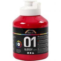 A-Color Acrylfarbe , Glänzend, Primärrot, 500 ml/ 1 Fl.
