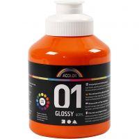 A-Color Acrylfarbe , Glänzend, Orange, 500 ml/ 1 Fl.