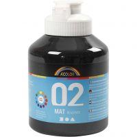 A-Color Acrylfarbe, Matt, Schwarz, 500 ml/ 1 Fl.