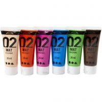 A-Color Acrylfarbe, Matt, Zusätzliche Farben, 6x20 ml/ 1 Pck