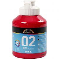 A-Color Acrylfarbe, Matt, Primärrot, 500 ml/ 1 Fl.