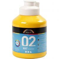 A-Color Acrylfarbe, Matt, Gelb, 500 ml/ 1 Fl.
