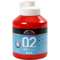 A-Color Acrylfarbe, Matt, Rot, 500 ml/ 1 Fl.