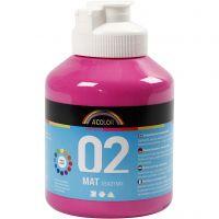 A-Color Acrylfarbe, Matt, Pink, 500 ml/ 1 Fl.
