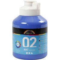 A-Color Acrylfarbe, Matt, Blau, 500 ml/ 1 Fl.