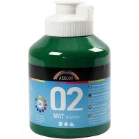 A-Color Acrylfarbe, Matt, Dunkelgrün, 500 ml/ 1 Fl.