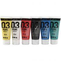 A-Color Acrylfarbe, Metallic, Standard-Farben, 6x20 ml/ 1 Pck