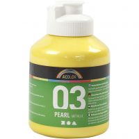 A-Color Acrylfarbe, Metallic, Gelb, 500 ml/ 1 Fl.