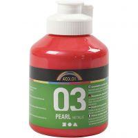 A-Color Acrylfarbe, Metallic, Rot, 500 ml/ 1 Fl.
