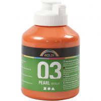 A-Color Acrylfarbe, Metallic, Orange, 500 ml/ 1 Fl.