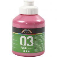 A-Color Acrylfarbe, Metallic, Rosa, 500 ml/ 1 Fl.