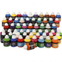 A-Color Acrylfarbe, Sortierte Farben, 57x500 ml/ 1 Pck
