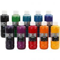 Textilfarbe für Seide, 10x250 ml/ 1 Pck
