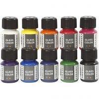 Keramikfarbe - Sortiment, Sortierte Farben, 10x35 ml/ 1 Pck