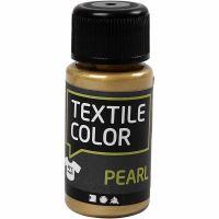 Textilfarbe, Perlmutt, Gold, 50 ml/ 1 Fl.