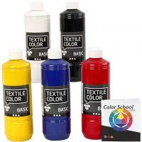 Textilfarbe, Primärfarben, 5x500 ml/ 1 Pck