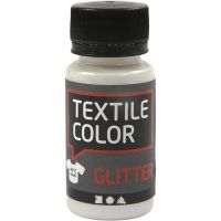 Textilfarbe, Glitter, Transparent, 50 ml/ 1 Fl.
