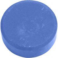 Wasserfarben, H: 16 mm, D: 44 mm, Blau, 6 Stk/ 1 Pck