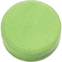Wasserfarben, H: 16 mm, D: 44 mm, Grün, 6 Stk/ 1 Pck