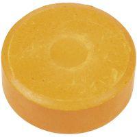 Wasserfarben, H: 16 mm, D: 44 mm, Orange, 6 Stk/ 1 Pck