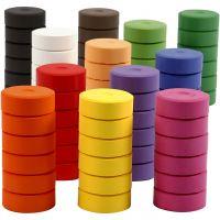 Wasserfarben, H: 16 mm, D: 44 mm, Nachfüllblock, 72 Stk/ 1 Pck
