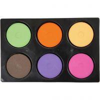 Wasserfarben, H: 16 mm, D: 44 mm, Zusätzliche Farben, 1 Set