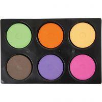 Wasserfarben, H: 19 mm, D: 57 mm, Zusätzliche Farben, 1 Set