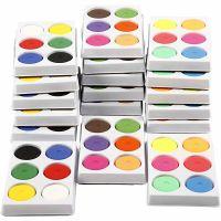 Wasserfarben, H: 16 mm, D: 44 mm, 18 Schale/ 1 Pck