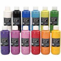 Textile Solid, Deckend, Sortierte Farben, 12x250 ml/ 1 Pck
