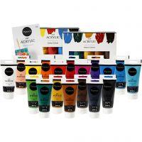 Einzelhandelspackung - Pigment Art Acrylfarbe mit Folder, 1 Set