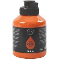 Pigment Art School-Farbe, Halbtransparent, Orange, 500 ml/ 1 Fl.