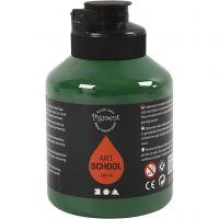 Pigment Art School-Farbe, Halbtransparent, Dunkelgrün, 500 ml/ 1 Fl.