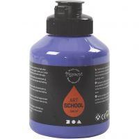 Pigment Art School-Farbe, Halbtransparent, Violettblau, 500 ml/ 1 Fl.