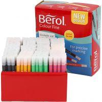 Berol Colourfine, Strichstärke 0,3-0,7 mm, Sortierte Farben, 288 Stk/ 1 Pck