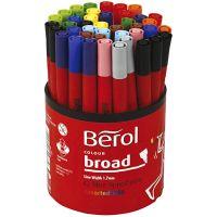 Berol Marker, D: 10 mm, Strichstärke 1-1,7 mm, Sortierte Farben, 42 Stk/ 1 Dose
