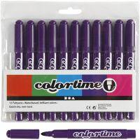 Colortime Filzstifte, Strichstärke 5 mm, Flieder, 12 Stk/ 1 Pck