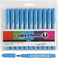 Colortime Filzstifte, Strichstärke 5 mm, Hellblau, 12 Stk/ 1 Pck