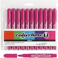 Colortime Filzstifte, Strichstärke 5 mm, Rosa, 12 Stk/ 1 Pck