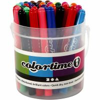 Colortime Filzstifte, Strichstärke 5 mm, Sortierte Farben, 42 Stk/ 1 Pck
