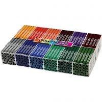 Colortime Filzstifte, Strichstärke 5 mm, Zusätzliche Farben, 12x24 Stk/ 1 Pck