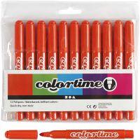 Colortime Filzstifte, Strichstärke 5 mm, Dunkelorange, 12 Stk/ 1 Pck