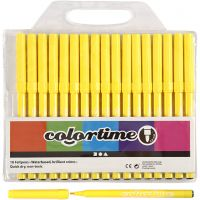 Colortime Filzstifte, Strichstärke 2 mm, Zitronengelb, 18 Stk/ 1 Pck